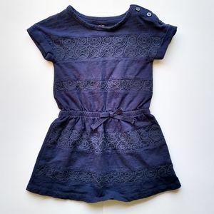 💐Oshkosh B'gosh crochet lace detail dress 3T navy